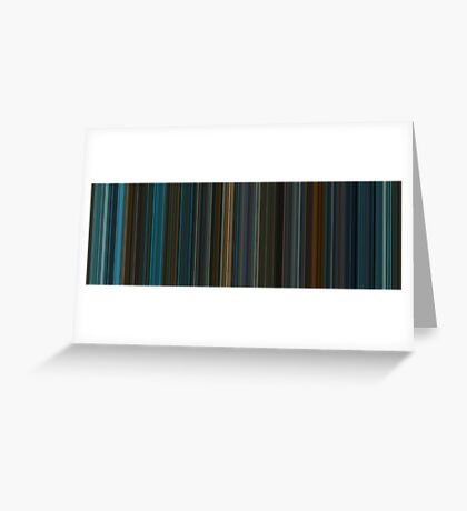Moviebarcode: Blade Runner (1982) [Simplified Colors] Greeting Card