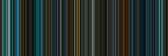 Moviebarcode: Blade Runner (1982) [Simplified Colors] by moviebarcode