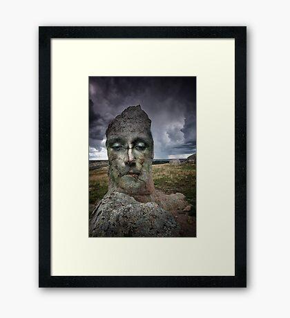 I am a Rock Framed Print