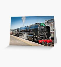 The Cathedrals Express: Steam Train. Greeting Card
