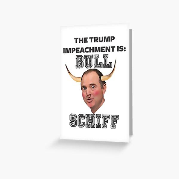 BULL Schiff  Greeting Card