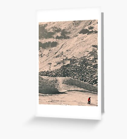 Verbier... an approach Greeting Card