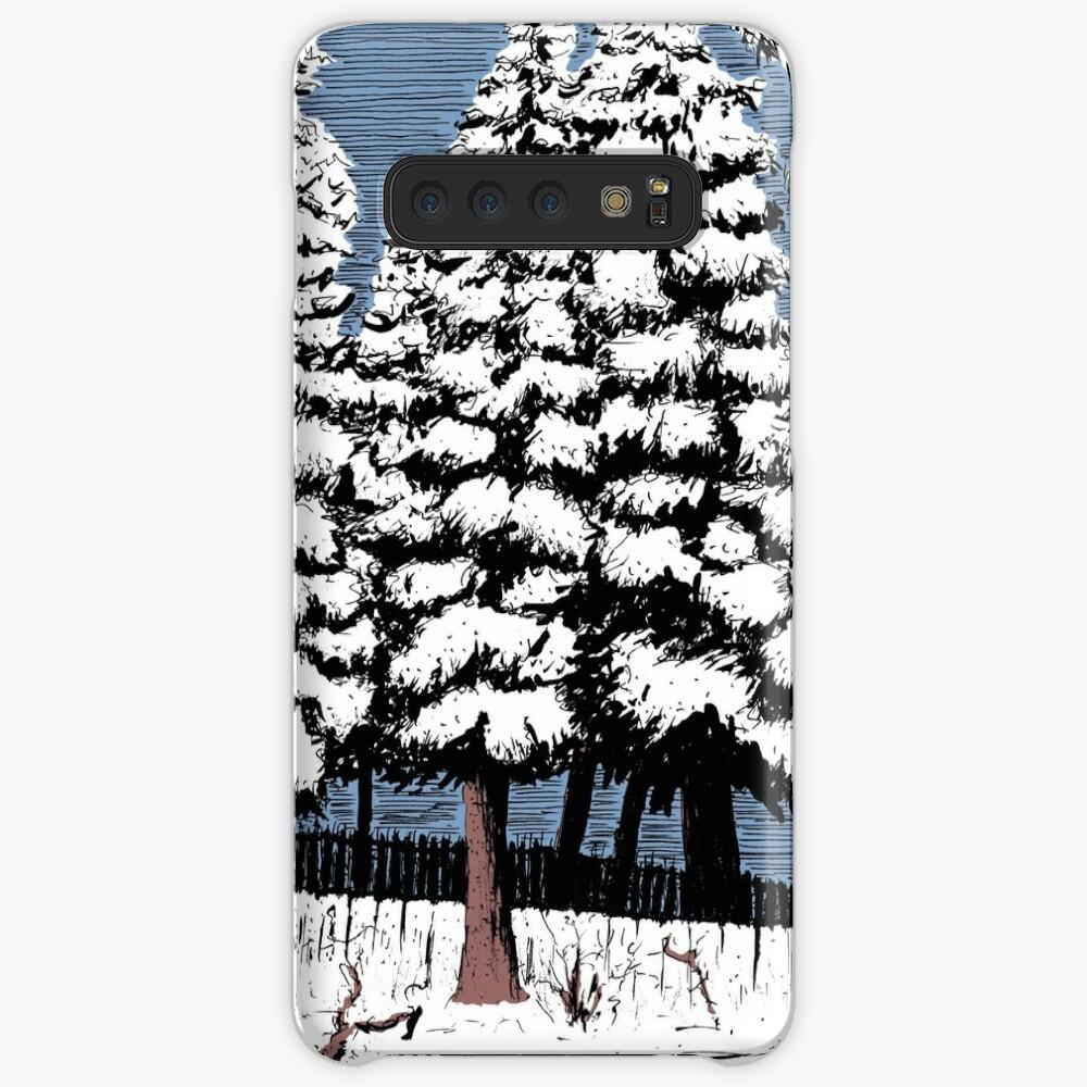 Backyard Snowfall Case & Skin for Samsung Galaxy