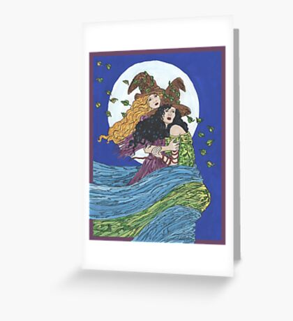 Witches' Wind Greeting Card