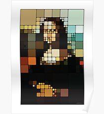 Monalisa Pixelated Poster