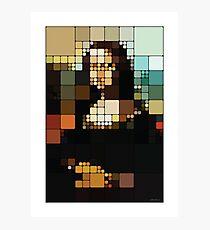 Monalisa Pixelated Photographic Print