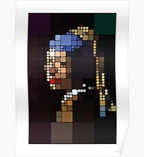 Girl with a Pearl Earring Pixelated Poster