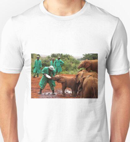"""""""Slow Coach"""": Last Little Elephant to Finish Feeding T-Shirt"""
