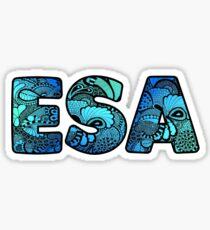 ESA Doodle Sticker