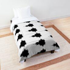 Monochrome Mandelbrot 002 Comforter