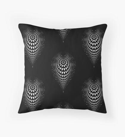Inverted White Linear Mandelbrot Floor Pillow