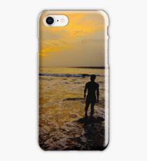 Taking it all in....My version of the lone sailor, Go Navy iPhone Case/Skin