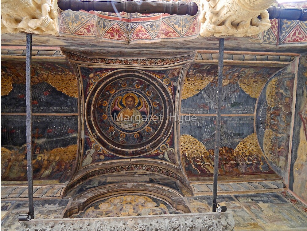 Fresco, Stavropoleos Church, Bucharest, Romania by Margaret  Hyde