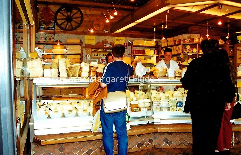 Cheese shop, Nachmarkt, Vienna, Austria by Margaret  Hyde