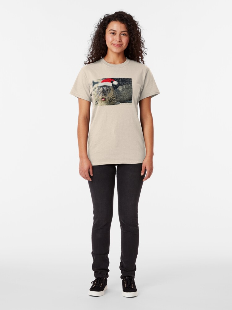 Alternate view of Holiday Harbor Seal Classic T-Shirt