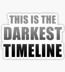 Dies ist die dunkelste Zeitachse (schwarz) Sticker