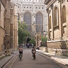 Cambridge Cyclists approaching Kings College by Robert Ellis