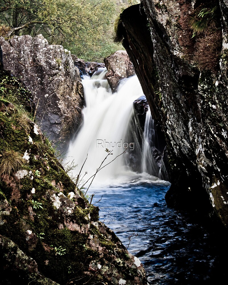 Waterfall on the River Ness by Rhudog