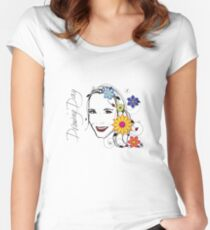 Drawing Day Self Portrait Women's Fitted Scoop T-Shirt