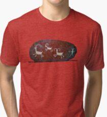 Boulder Petroglyphs Tri-blend T-Shirt