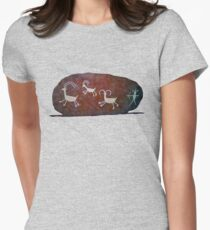 Boulder Petroglyphs Womens Fitted T-Shirt