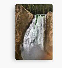 Yellowstone River At  The Lower Falls 2 Canvas Print