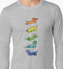 Camiseta de manga larga Dachshunds Acuarela