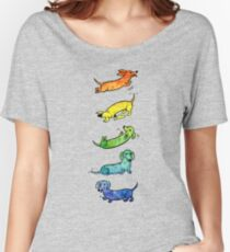 Watercolor Dachshunds Women's Relaxed Fit T-Shirt