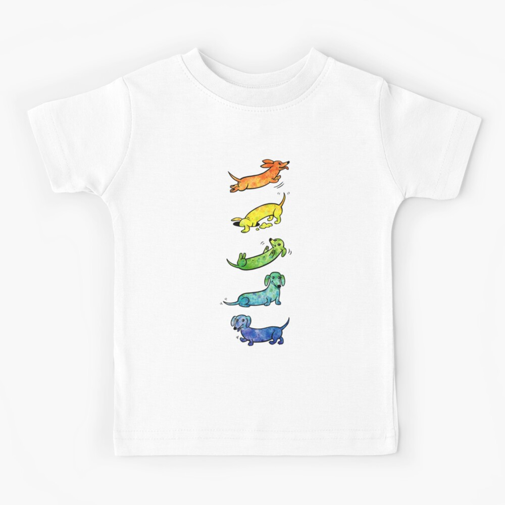 Watercolor Dachshunds Kids T-Shirt