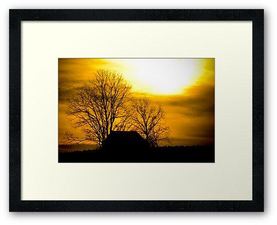 Golden Sunset - Edgefield, SC by Randall Faulkner