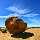 On Top At Wave Rock - Hyden WA  by Chris Paddick