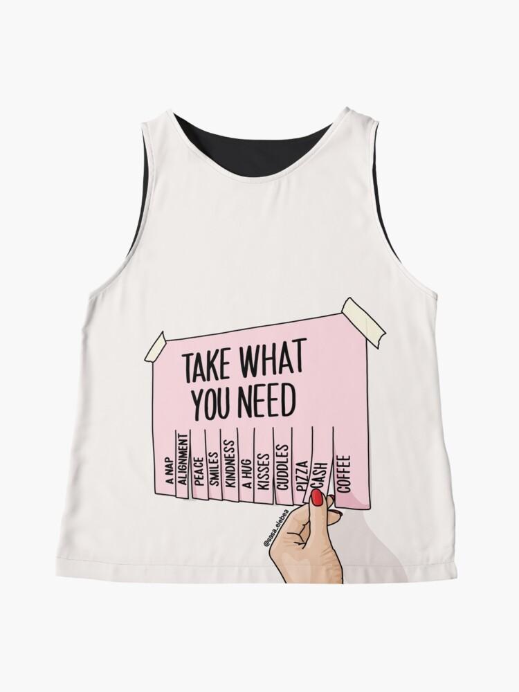 Alternate view of Take what you need by Sasa Elebea Sleeveless Top