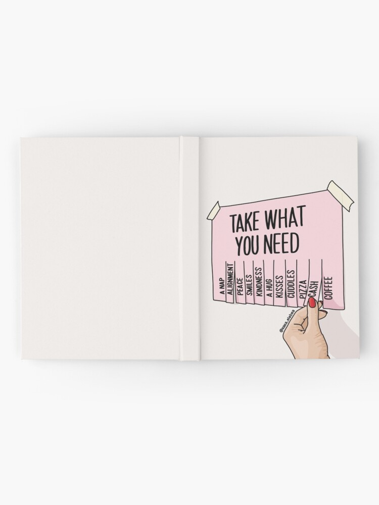 Alternate view of Take what you need by Sasa Elebea Hardcover Journal