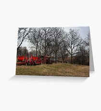Farm Implements Greeting Card
