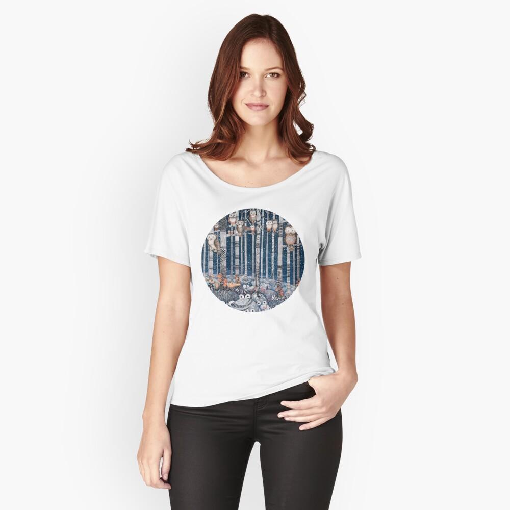 Owl Forest Camiseta ancha
