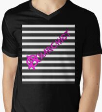 Anarchist - Stripe V-Neck T-Shirt