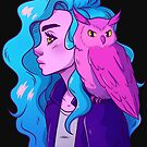 Copy of Neon Owl Girl Two by MysticalScribls