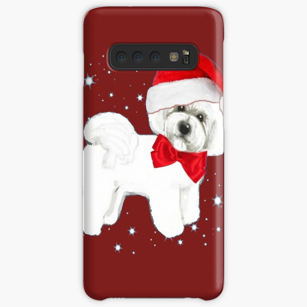 Bichon Frise Santa Hat Samsung Galaxy Snap Case