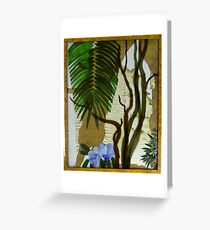 Bangalow Palm, Angophora and Native Hibiscus Greeting Card