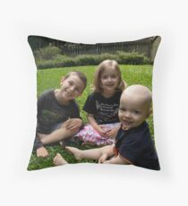 All Smiles Throw Pillow