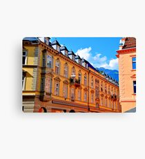 meran architecture Canvas Print
