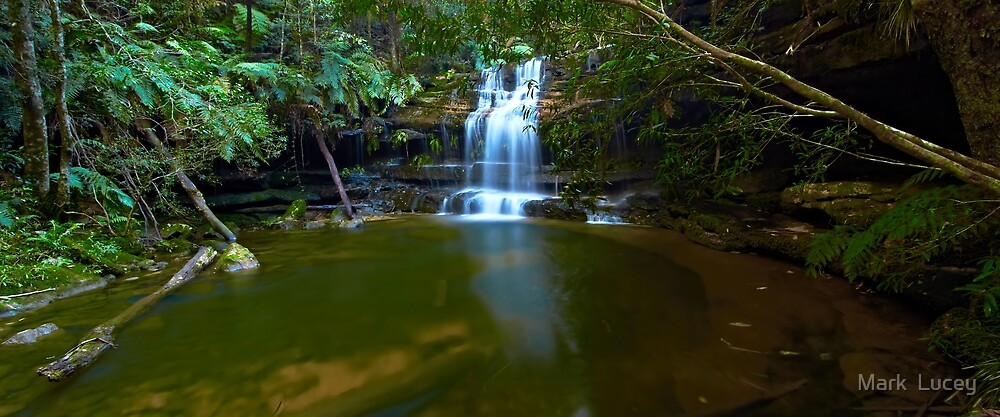 The Bottom Pool - Terrace Falls by Mark  Lucey