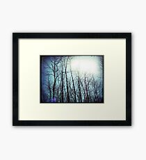 a whispered love story floating in the tops of the trees fingertips Framed Print