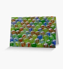Marbles Greeting Card