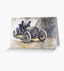 Isotta Fraschini 50HP 1908 Targa Floria  Greeting Card