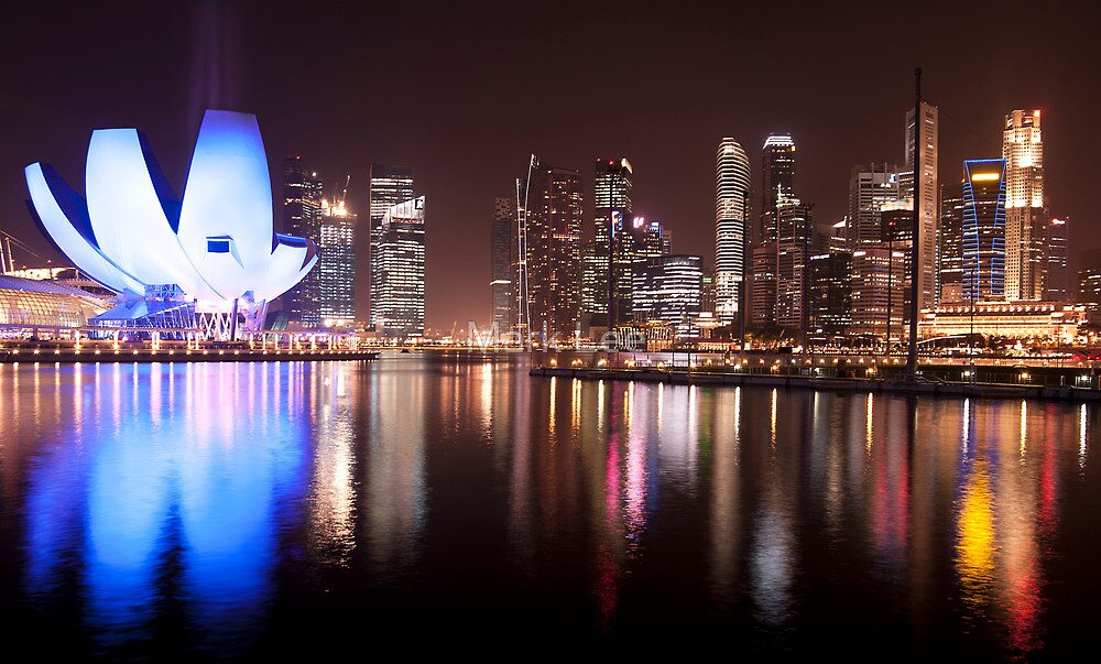 Marina Bay Skyline (Night) by Mark Lee