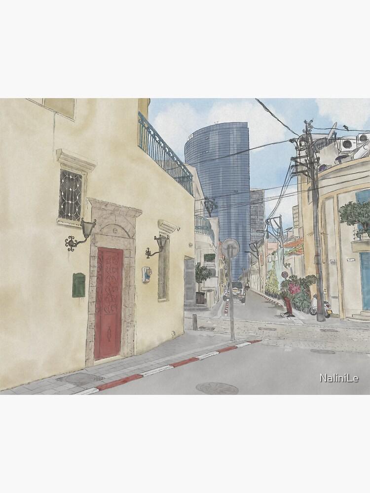 Neve Tzedek neighbourhood in Tel Aviv - Illustration by NaliniLe
