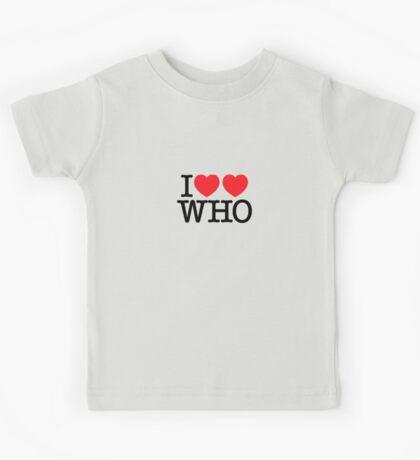 I ♥♥ WHO (light) Kids Clothes