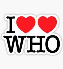 I ♥♥ WHO (light) Sticker