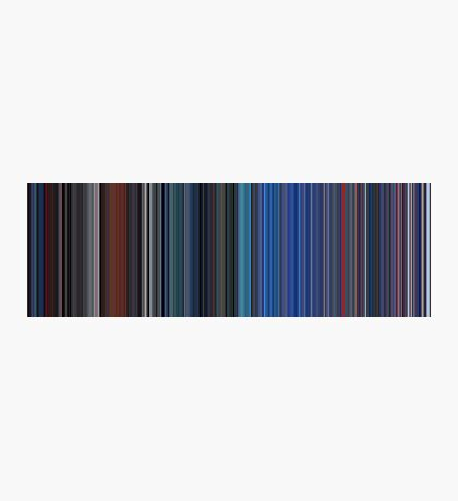 Moviebarcode: TRON (1982) [Simplified Colors] Photographic Print